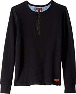 Thermal Long Sleeve Henley Pullover (Big Kids)