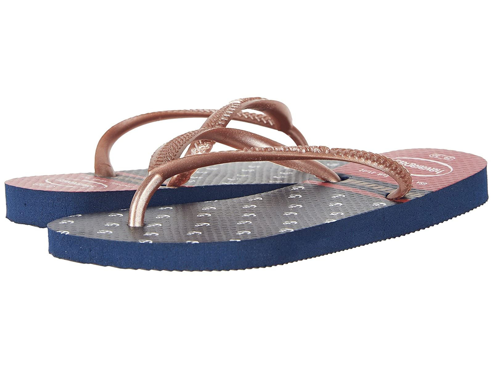 Havaianas Kids Slim Nautical Flip-Flop (Toddler/Little Kid/Big Kid)Atmospheric grades have affordable shoes