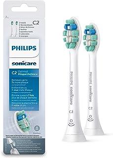 Końcówka Philips Sonicare C2 Optimal Plaque Defence - 2-pack - Do 7x mniej płytki bakteryjnej - Potwierdzone klinicznie - ...