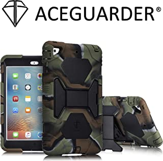 iPad Mini 2 Case, ACEGUARDER Full Body Protective Cover with Adjustable Kickstand for iPad Mini 1 2 3 (Army/Black)