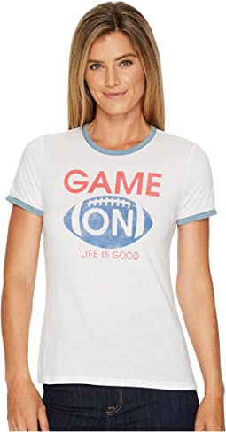 Life is Good - Game On Football Ringer Tee