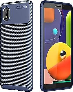 جراب TingYR لهاتف Samsung Galaxy A01 Core من مادة TPU المرنة فائقة النحافة لامتصاص الصدمات، مضاد للخدش، غطاء مطاطي مرن ممت...