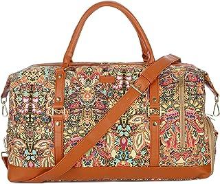 Baosha Handgepäck Reisetasche Sporttasche Weekender Tasche für Kurze Reise am Wochenend Urlaub Arbeitstasche mit Schuhfach HB-14 Blumendruck mit Schuhfach