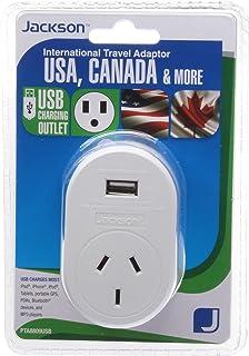 Jackson Outbound Travel Adaptor w/USB - USA, (PTA8809USB)
