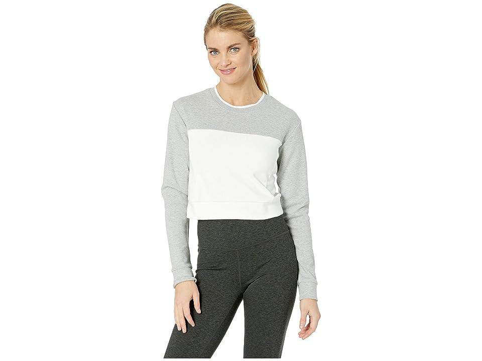 New Balance Athletics Long Sleeve Crop Top (Athletic Grey/Pigment) Women