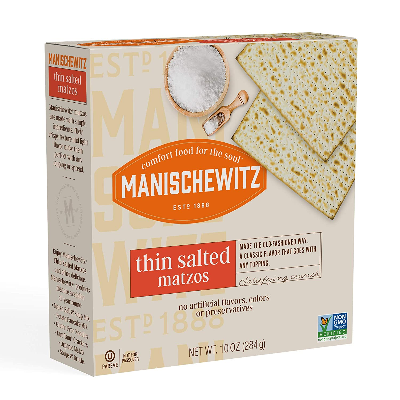 Many popular brands Max 43% OFF Manischewitz Thin Salted Matzo 10 - Ounce case. 12 per