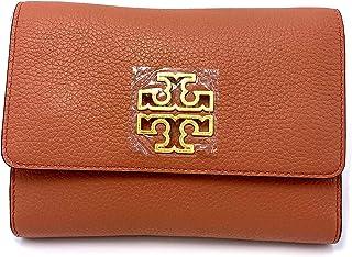 NWT Tory Burch Savannha SLIM MEDIUM Wallet Leather ImperialGarnet Tramonto Black
