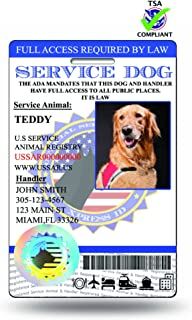 XpressID Pro Holographic Service Dog ID Card (Custom)|Includes Registration to National Dog Registry