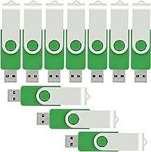 VICFUN 10pcs 8GB USB Flash Drives USB 2.0 8GB Memory Stick Pen Drive Green