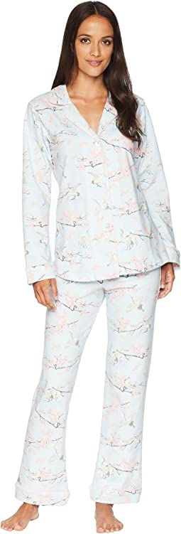Long Sleeve Classic Knit Two-Piece Pajama Set