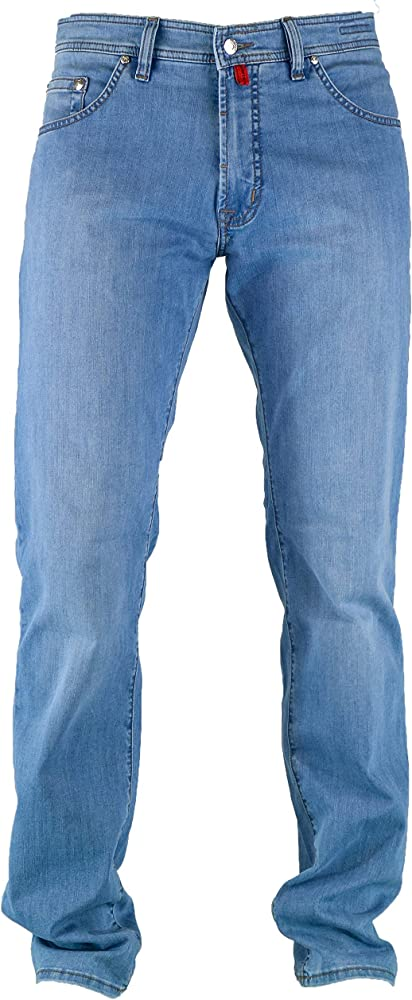 Pierre cardin, jeans da uomo, pantaloni gamba dritta,  62% poliestere, 16% cotone, 20% viscosa, 2% elastan 3196 237.88B