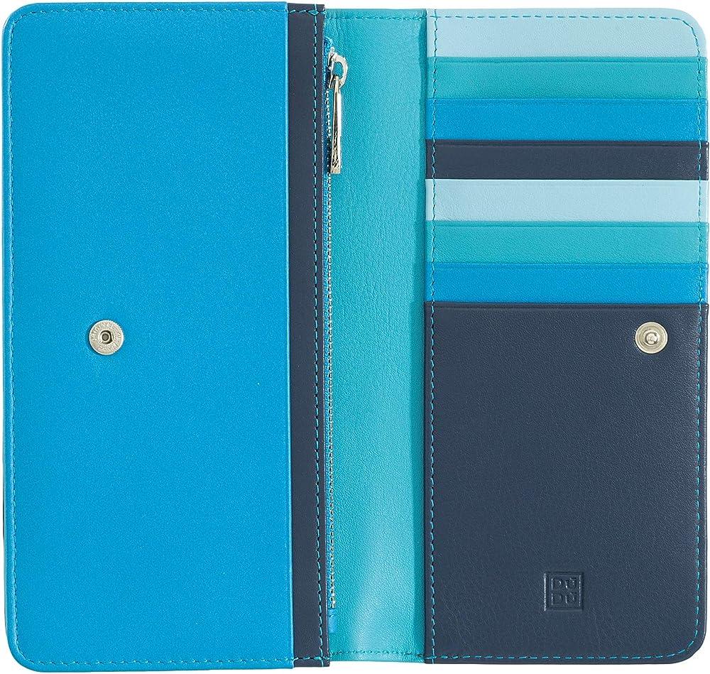 Dudu, portafoglio in pelle morbida, multicolore da donna, protezione rfid, porta carte di credito 8031847130034