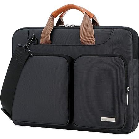 Lacdo 14 Inch 360° Protective Laptop Shoulder Bag Sleeve Case for HP Chromebook 14, Stream 14 / Acer Chromebook 14, Spin 3 / ASUS ZenBook 14 / Inspiron 14, Latitude E7470 / IdeaPad 3 Notebook, Black