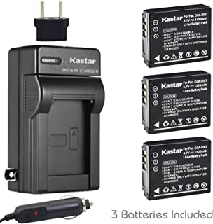 Kastar Battery (3-Pack) and Charger Kit for Panasonic Lumix CGA-S007 CGA-S007A CGA-S007A/1B CGA-S007E DMW-BCD10 DE-A25 DE-A26 & Lumix DMC-TZ1 DMC-TZ2 DMC-TZ3 DMC-TZ4 DMC-TZ5 DMC-TZ11 DMC-TZ15 DMC-TZ50