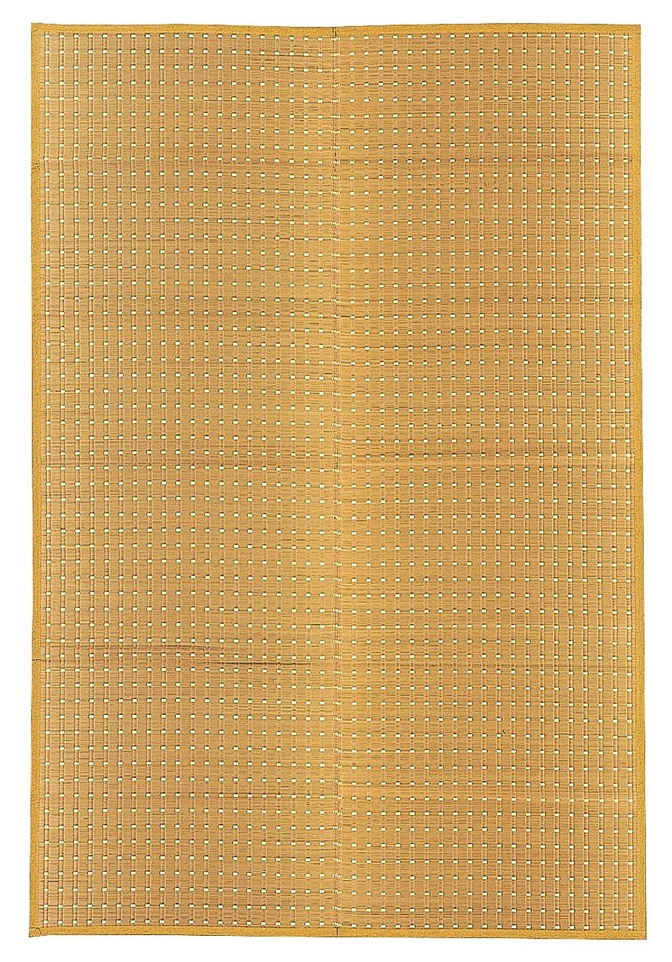 トラップごちそうシェア萩原 イ草 ベージュ 江戸間6畳(約261X352cm) 国産 い草 花ござ カーペット 「吉兆」 22102460