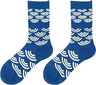 Bascar, 1 par de calcetines de mujer con motivos multicolor | Dulces calcetines de algodón para mujer en diferentes patrones para invierno y verano