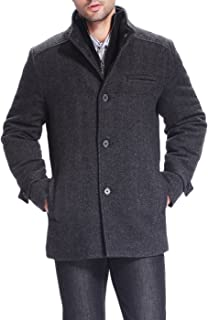 BGSD Men's Samuel Herringbone Wool Blend Bibbed Car Coat