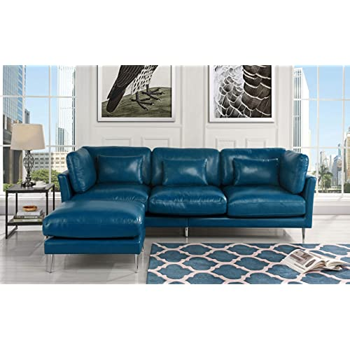 Navy Blue Sectional Sofas: Amazon.com
