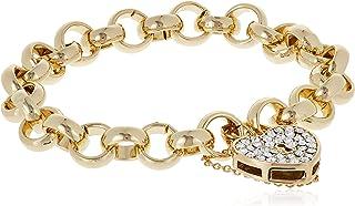 MESTIGE Women Crystal Golden Heart-throb Bracelet with Swarovski Crystals