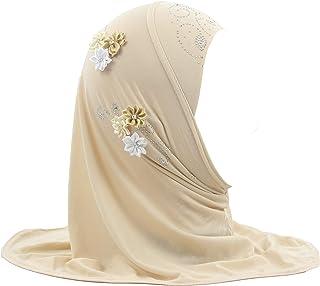 مودم الجمال الحجاب وشاح الفتيات الحجاب رئيس التفاف مع الزهور الحجاب للبنات