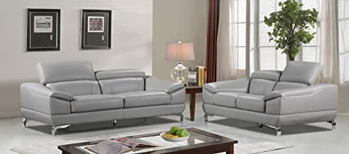 Best grey genuine leather sofa Reviews