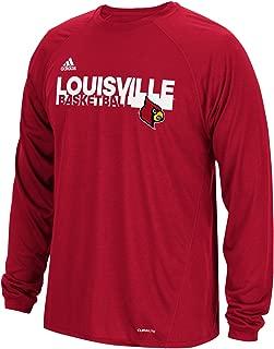 Power Red NCAA Louisville Cardinals Mens 2017 On Court Climalite S//Tee2017 On Court Climalite S//Tee Large