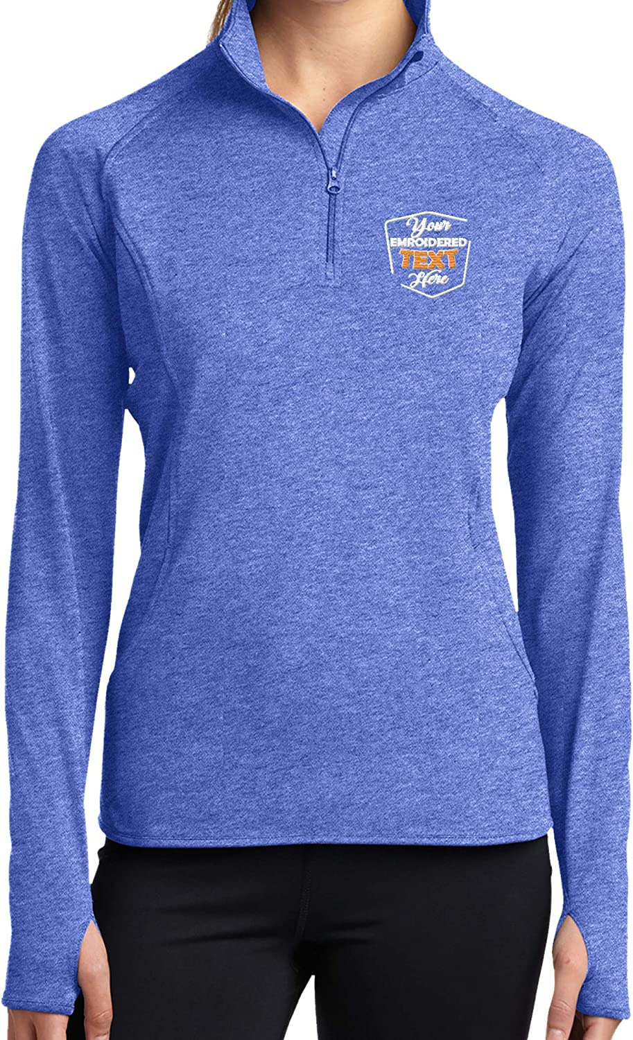 Personalized Embroidered Zip online shopping Pullover Custom Add Text Half overseas Your