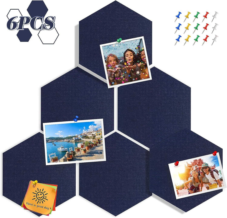 Tikea Hexagon Memphis Mall Felt Bulletin Boards Mail order Pack Sel Memo 6 Notice