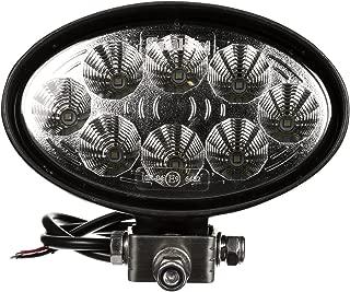 Truck-Lite 8180 Signal-Stat 4X6 In. Oval LED Flood Light, Black, 8 Diode, 1400 Lumen, Blunt Cut, 12-36V