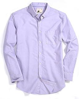 Mens Casual Button Down Modern Fit Oxford Dress Shirt