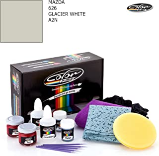 MAZDA 626 / GLACIER WHITE - A2N / COLOR N DRIVE TOUCH UP PAINT SYSTEM FOR PAINT CHIPS AND SCRATCHES / PRO PACK
