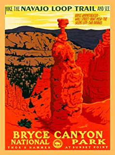 A SLICE IN TIME Bryce Canyon National Park Navajo Loop Trail Utah United States Vintage Travel Home Collectible Wall Decor Advertisement Art Poster Print. 10 x 13.5 inches
