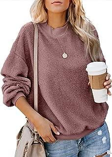 Acelitt Women's Cozy Oversize Fluffy Fleece Sweatshirt Pullover Outwear ( 18 Color,S-XXL )