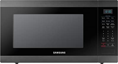 Samsung MS19M8000AG/AA Large Capacity Countertop Microwave Oven Black Stainless Steel (Renewed)