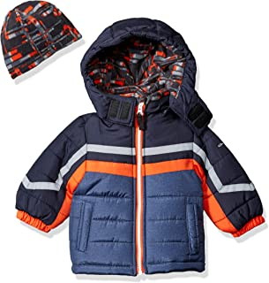 London Fog Baby Boys Active Heavyweight Jacket with Ski Cap
