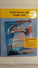 Glencoe United States Government Democracy in Action, Section Quizzes and Chapter Tests