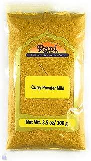 Rani Curry Powder Mild Natural 10-Spice Blend 100g (3.5oz) ~ Salt Free | Vegan | No Colors | Gluten Free Ingredients | NON-GMO
