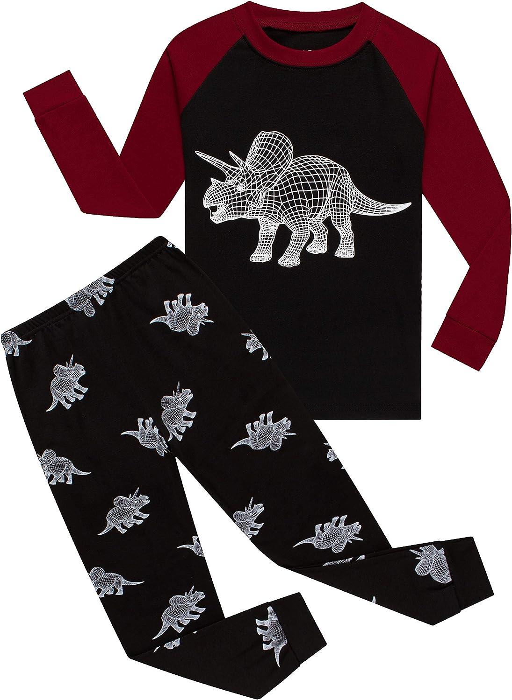 Family Feeling Kids & Toddler Girls Boys Pajamas 2 Piece Pjs Set 100% Cotton Sleepwear