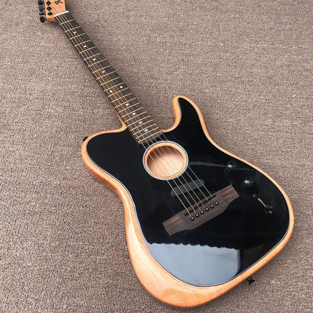 LYNLYN Guitarras Guitarra Eléctrica Cuerpo Hueco Y Puente De Palisandro Guitarra Eléctrica De Guitarra Acústica De Acero Acústico Guitarras Guitarra eléctrica (Color : Guitar, Size : 41 Inches)