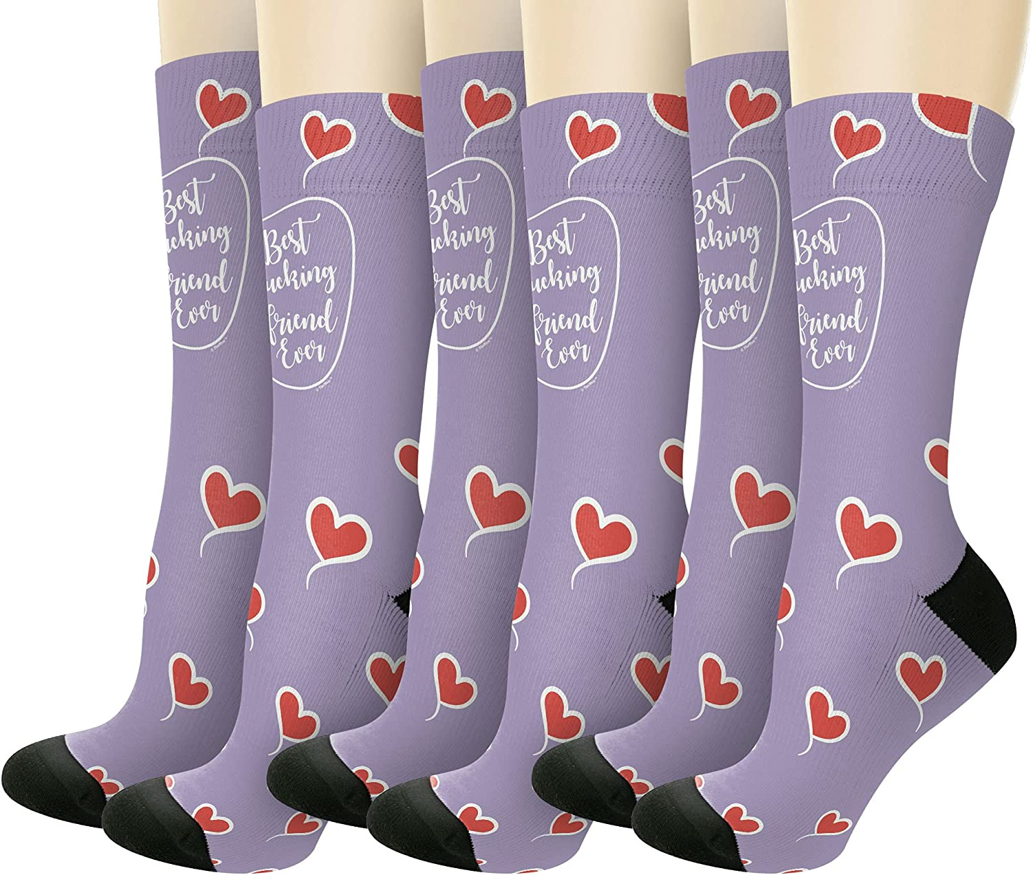 Best F-cking Friend Ever Socks New Max 43% OFF color Crew Novelty
