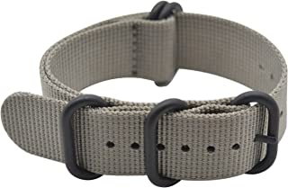 ArtStyle Watch Band with Ballistic Nylon Material Strap and High-End Black Buckle (Matte Finish)