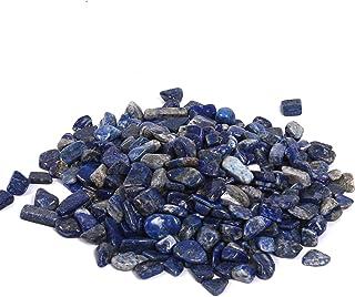 Shiny Stone Lapis Lazuli Tumbled Crystal,Aquarium Gravel,Fish Gravel Rocks Stones for Fish Tank Aquarium Succulent Home Garden Gifts Decoration 9-12mm 400g/0.88lb