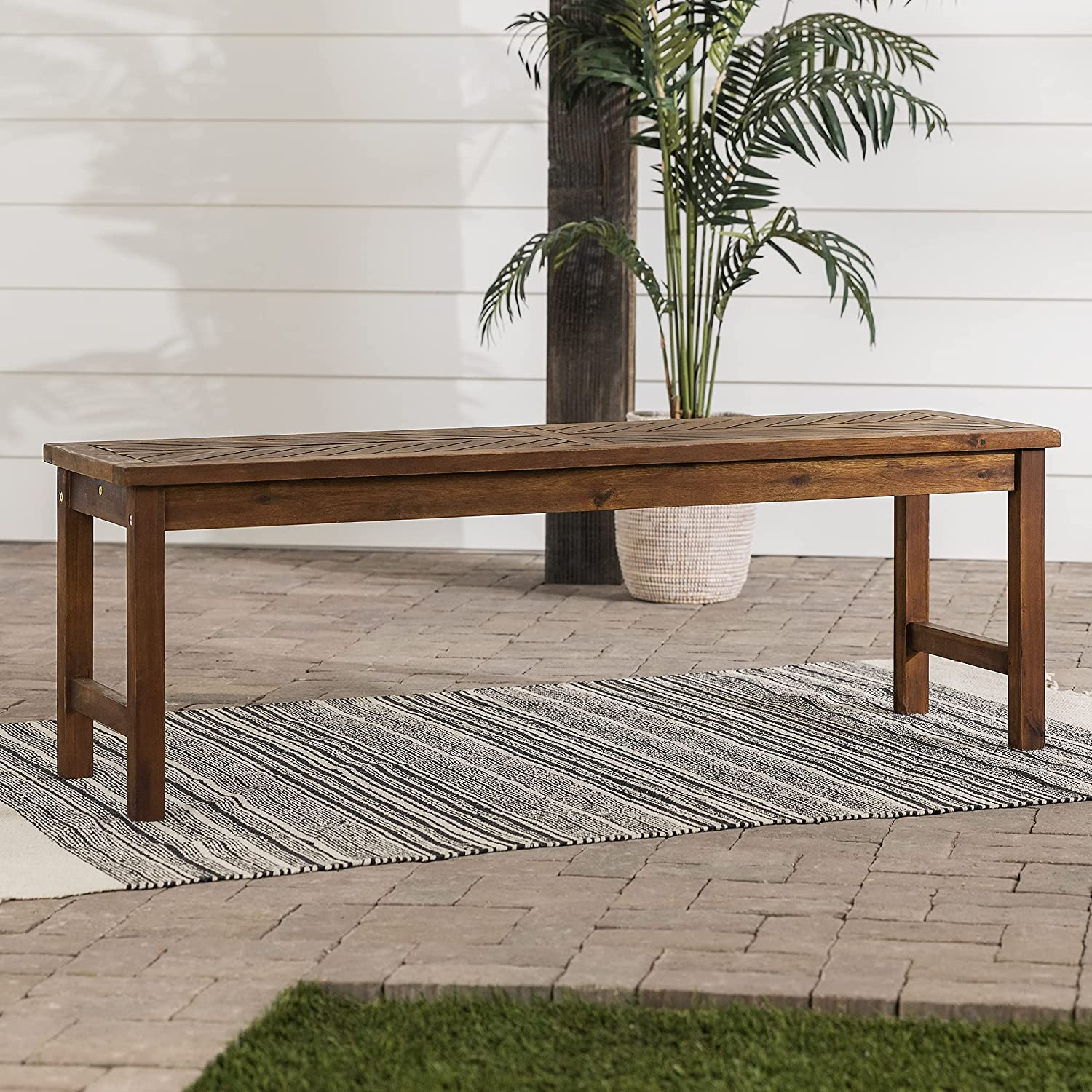 Walker Edison Furniture Company Challenge the lowest price 3 OFFer W Patio Person Outdoor Chevron