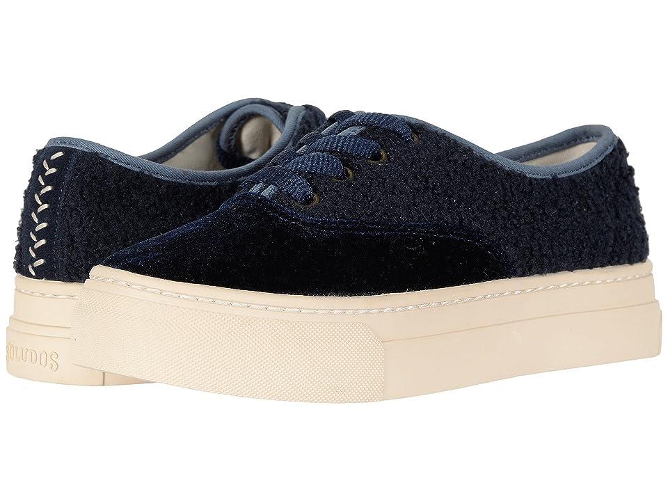 Soludos Porto Platform Velvet Sneaker (Midnight Blue) Women