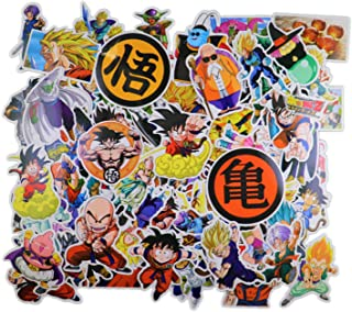 Dragon Ball Z Stickers [100pcs] Anime Vinyl Sticker for Nintendo Switch Laptop Water Bottle Bike Car Motorcycle Bumper Luggage Skateboard Graffiti Cute Animal Monsters Decal Best Gift for Kid Childre