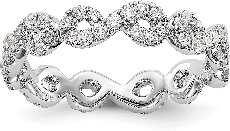 KIOKORI Eternity Diamond Band Infinity Design Max 52% OFF Popular popular Set White in 14K G