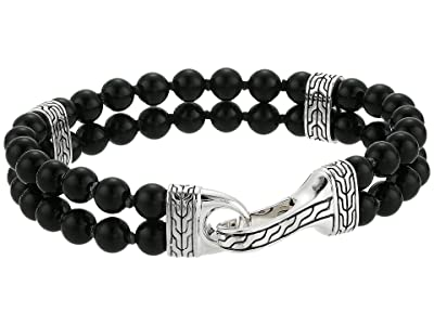 John Hardy Classic Chain Double Row Bead Bracelet with Black Onyx (Silver) Bracelet