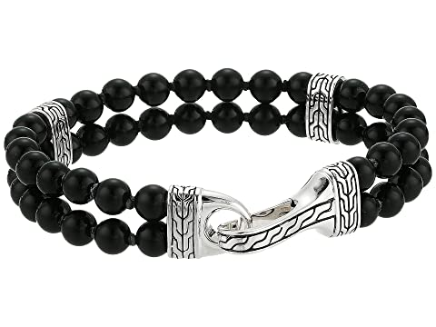 John Hardy Classic Chain Double Row Bead Bracelet with Black Onyx