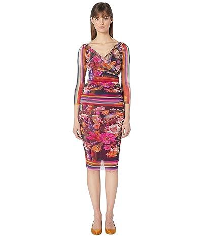 FUZZI 3/4 Fitted Cactus Dress (Darkness) Women