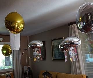 comprar comparacion 16 Globos de helio mágicos: FLOTAN sin subir ni bajar (en suspensión). Absolutamente asombrosos. Personalizables por ti mi...